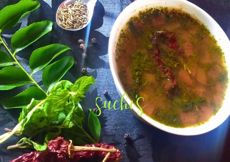 Recipe of Quick Mint Rasam