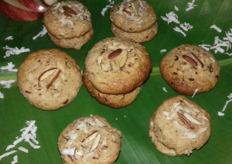 Apple Coconut Wheat flour Cookies