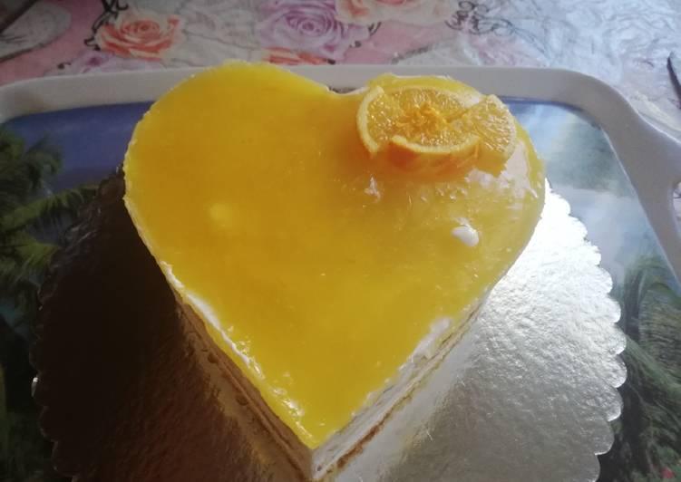 Gâteau à la gelées d'orange