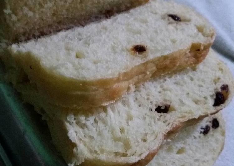 roti tawar kismis (japanese white bread)