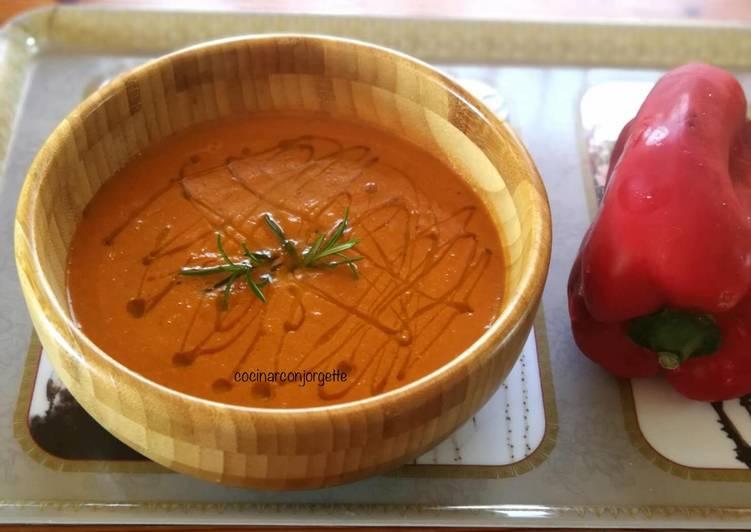 Crema de pimiento rojo - veggie