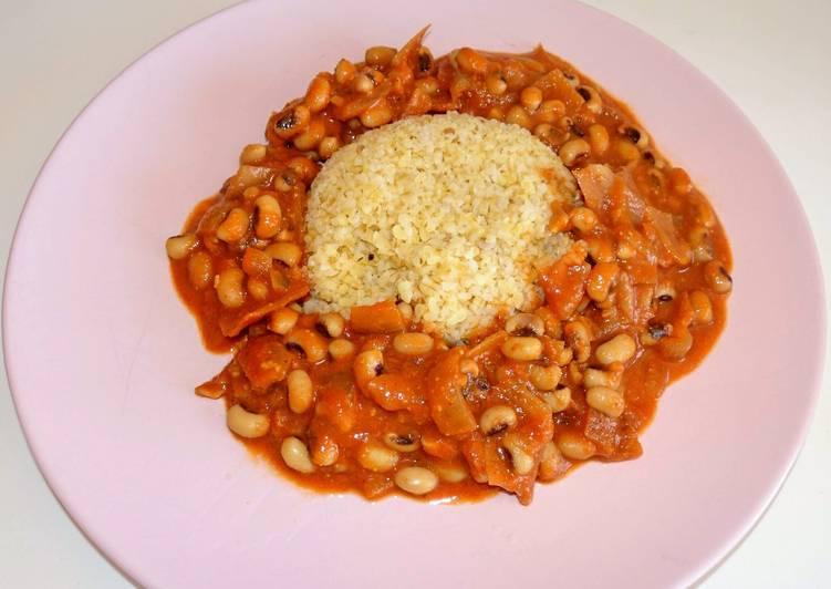 Mafé de haricots cornilles (vegan)