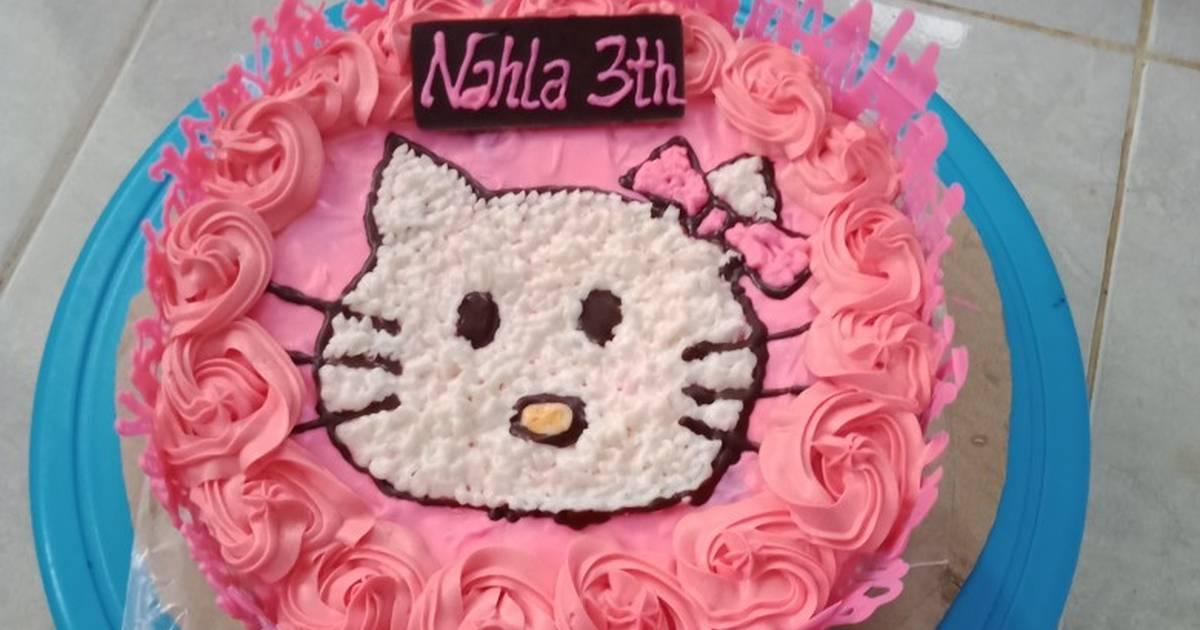 Resep Kue Ulang Tahun Hello Kitty Oleh Nur Azizah Cookpad