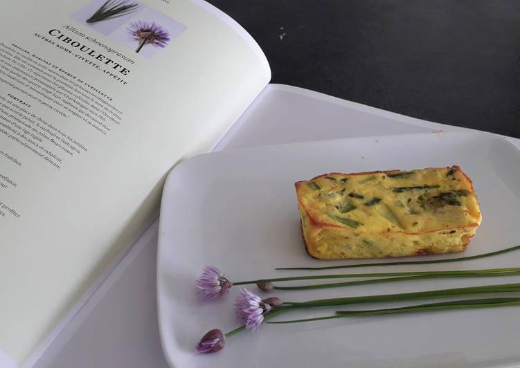 Flans aux asperges vertes, parmesan et ciboulette