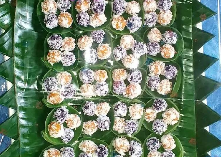 Resep Klepon ubi ungu&oranye