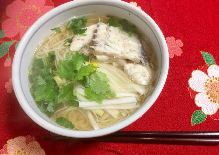 Japanese Red Snapper Soup Noodle, Finding Nutritious Fast Food