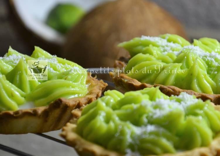 Tartelettes lemon curd citron vert et crème de coco