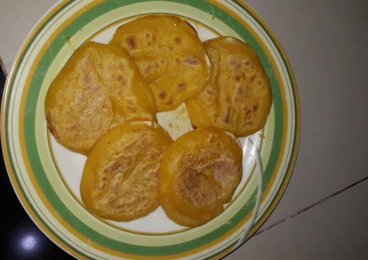 Pancake labu kuning gluten, casein, egg free cemilan anak autis