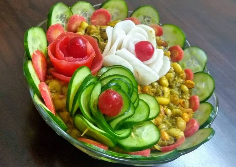 The black eyed pea salad chat