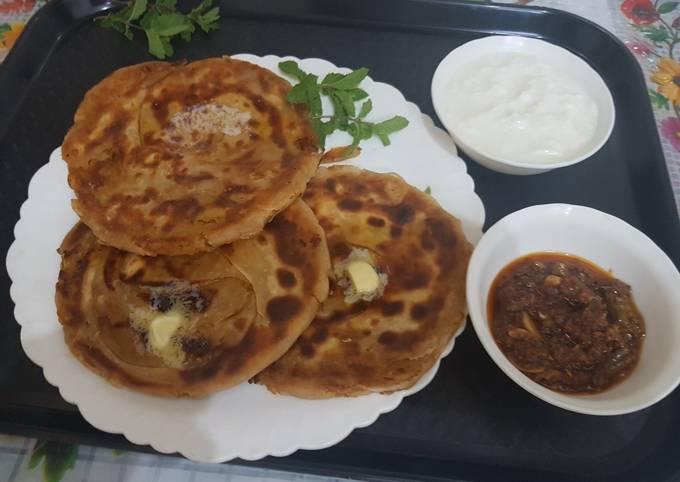 Afghani feteer paratha Recipe I Afghani Aloo Pyaz paratha Recipe I