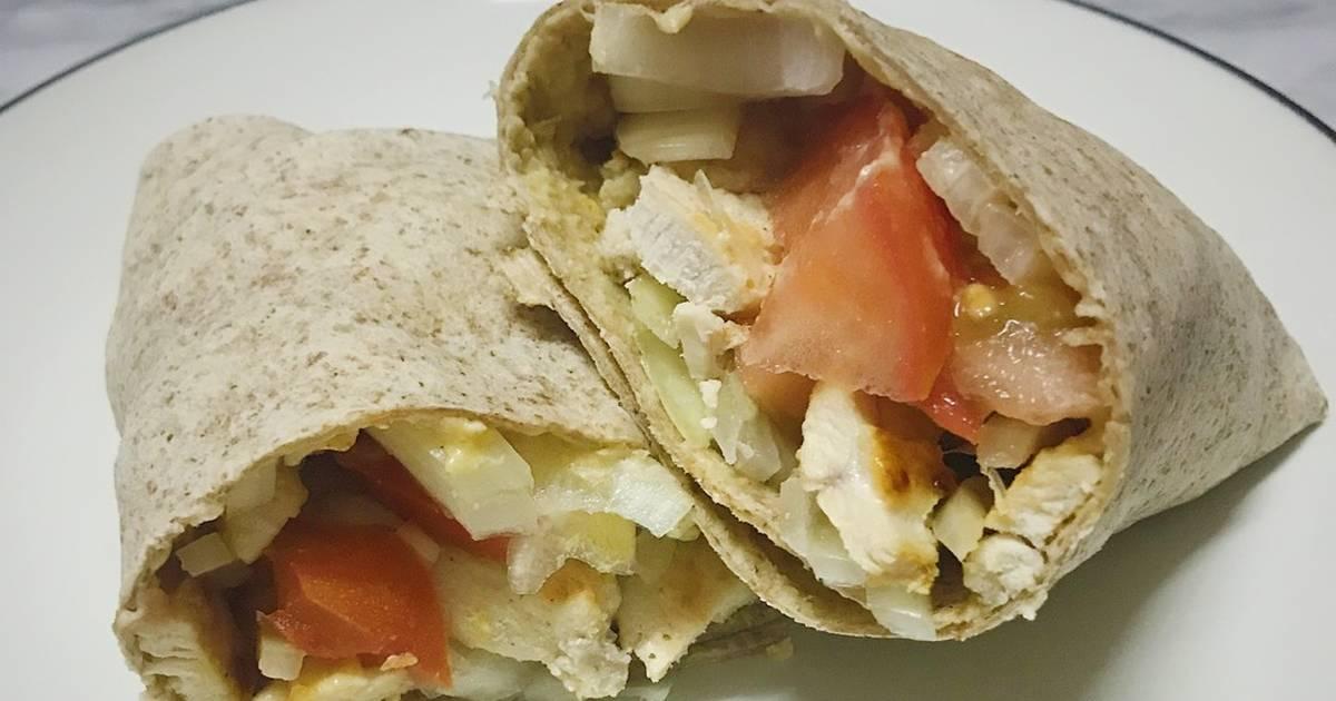 Resep Mediterranean Chicken Wraps Clean Eat Oleh Julia Halim Cookpad