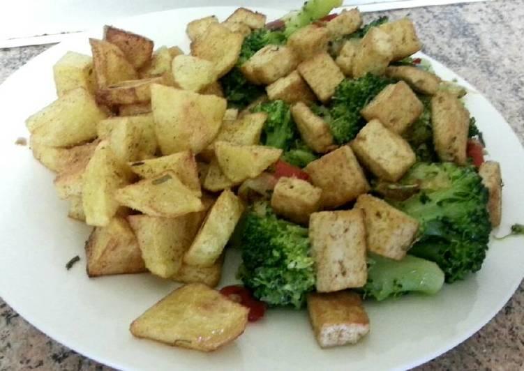 Plato combinado de tofu