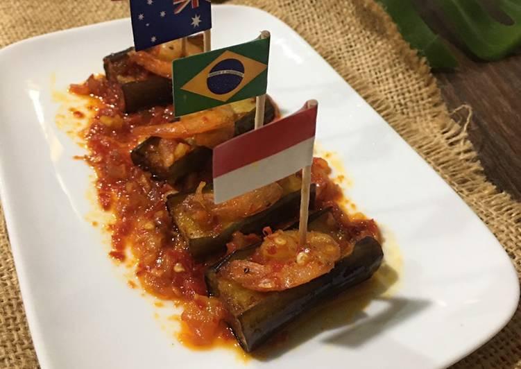 Eggplant Shrimp with Chilli Sauce AKA Balado Terong Udang 🍆🦐
