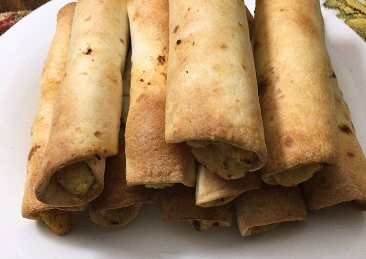 Bake chicken taquitos