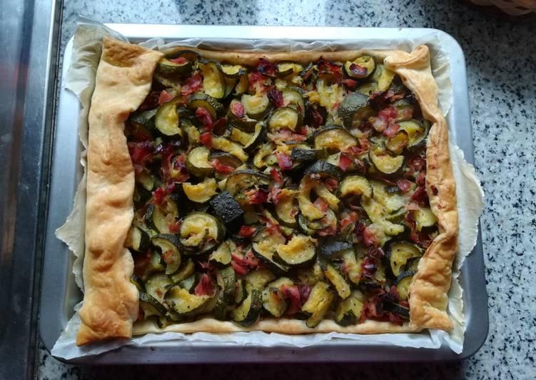 Ricetta Torta salata zucchine e prosciutto crudo