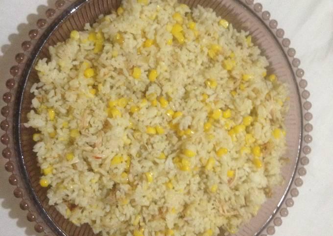 Nasi goreng jagung manis simple