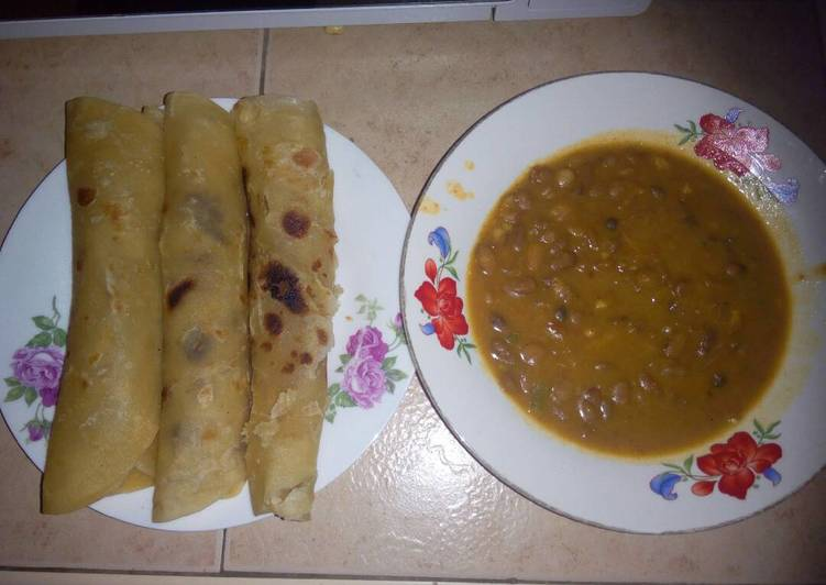 Chapati and Beans