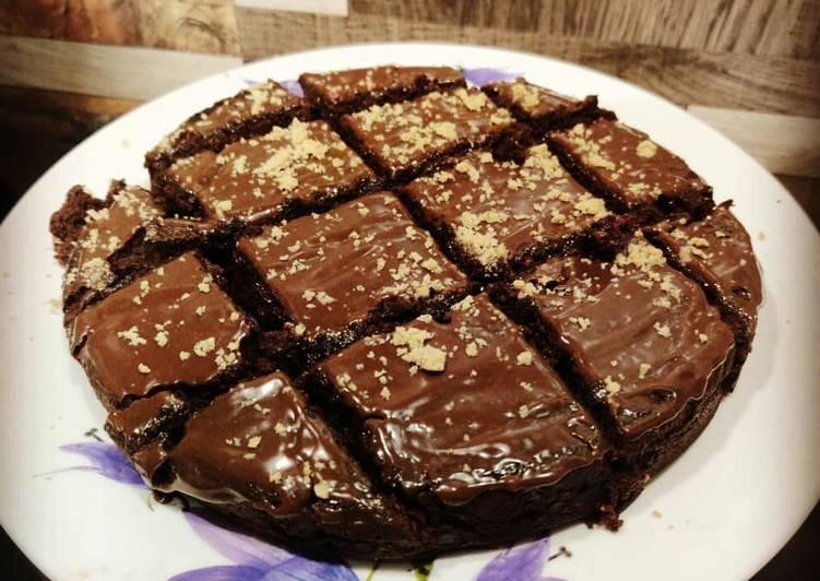Eggless Choco Walnut Brownie