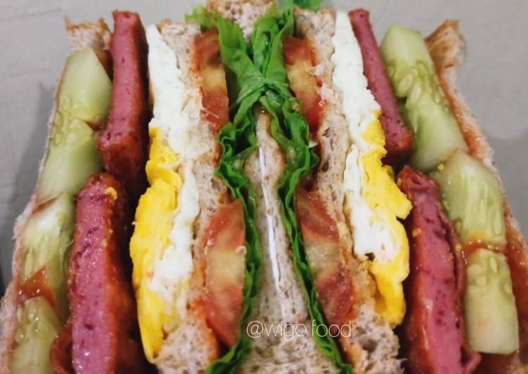 Resep Sandwich Roti Gandum 🍞 Paling Top