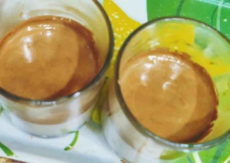 Dalgona coffee hot version