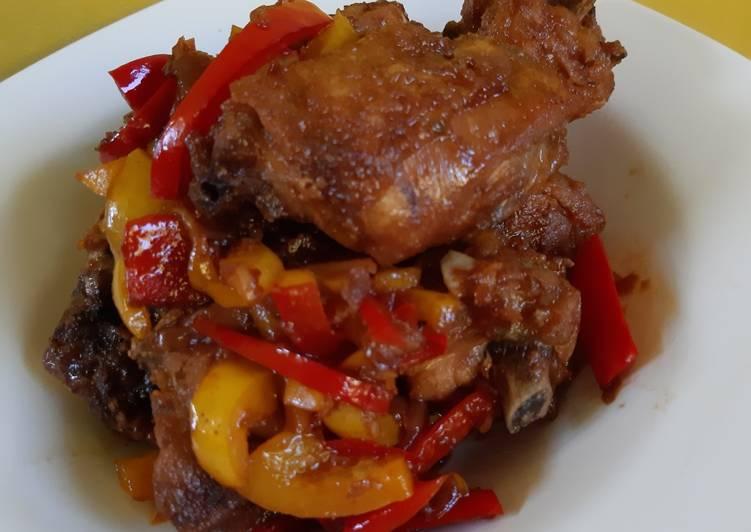 Menu Anak: Ayam Kecap Paprika