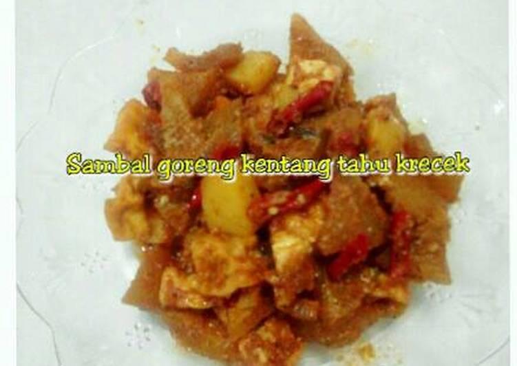 Sambal goreng kentang tahu Krecek (kulit sapi)