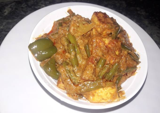 Mix veg paneer sabji