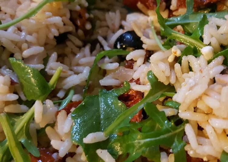 Salade de riz vegan
