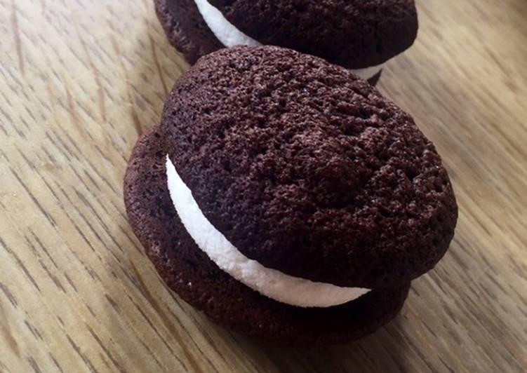 Whoopies au chocolat 🍫 et chamallow