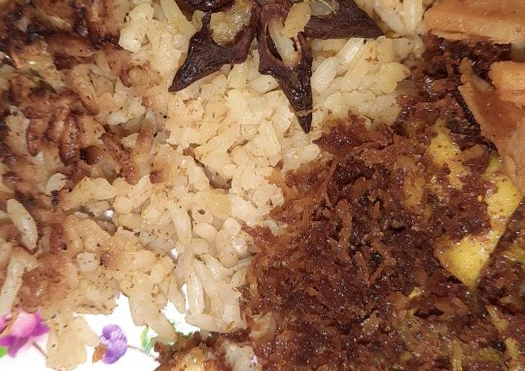 Nasi kebuli ayam ricecooker