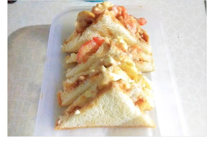Resep Sandwich telur mudah bekal anak Terbaik