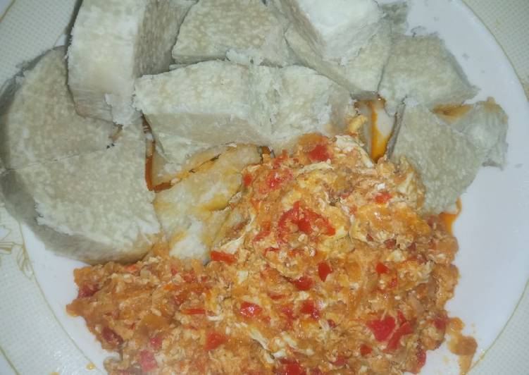 What are some Dinner Easy Ultimate Boiled yam & egg sauce