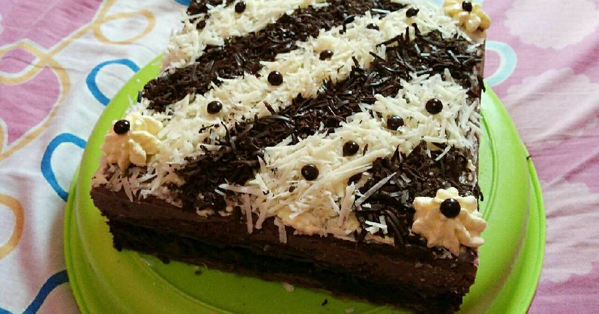Brownies kukus / kue ultah coklat
