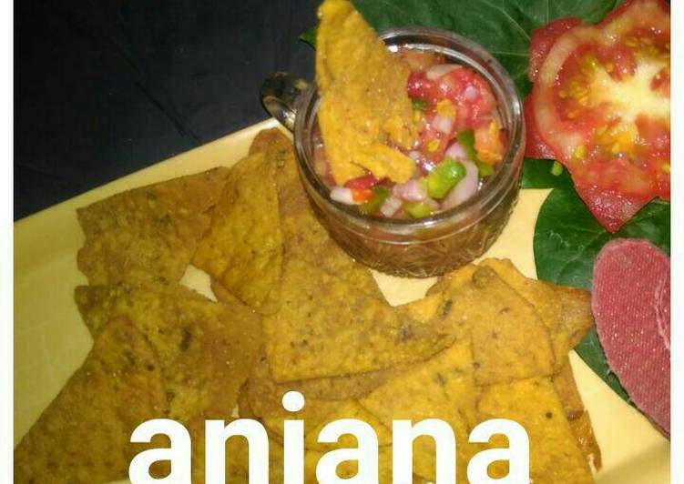 Easiest Way to Make Favorite Tangy salsa with multigrain aachari nachos..