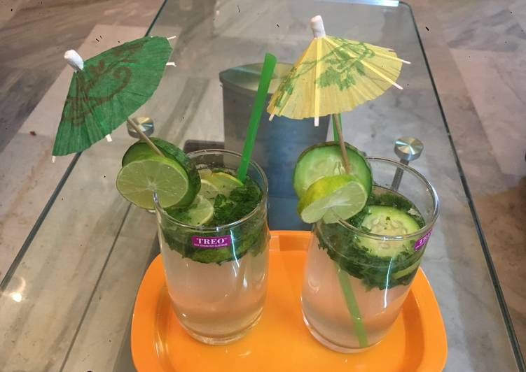 Step-by-Step Guide to Prepare Speedy Mojito - Mocktail with Lemon Cucumber and Mint
