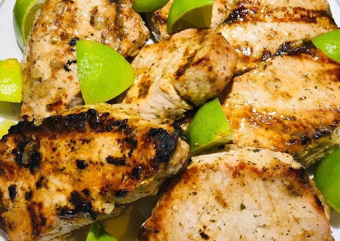 Grilled Jalapeño Lime Pork Chops