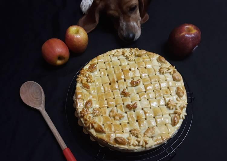 Tarte décor aux pommes