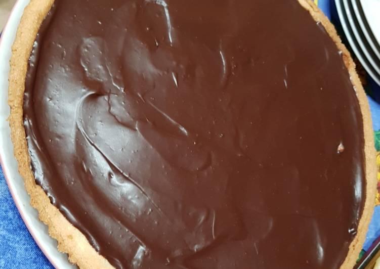 Tarte aux deux chocolats