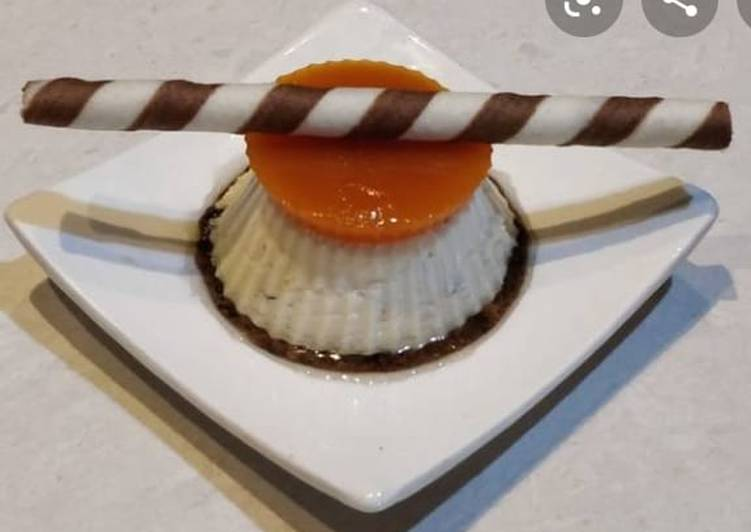 Recipe of Quick Mango jelly Karvas pudding