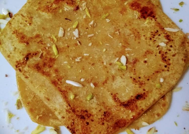 Recipe of Perfect Chinni/Sugar paratha