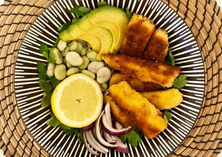Fish & Greens, poisson pané maison 🍋🥣🌱