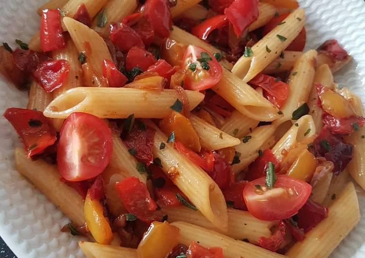 Poêlée poivrons & tomates cerise