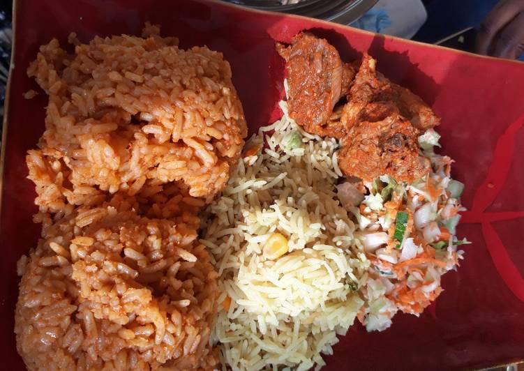 Jollof and curry rice