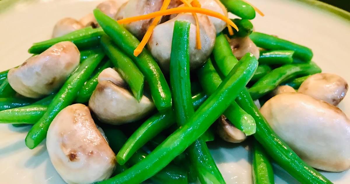 Cách Làm Món Đậu cove xào nấm mỡ của Bảo Bình - Cookpad