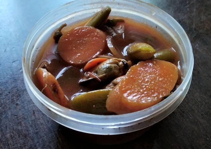 Not jjampong (Korean inspired no-noodles mussel soup)