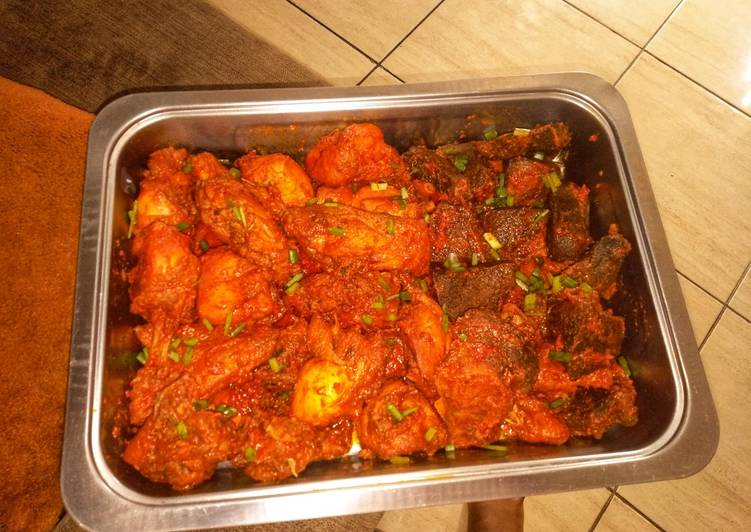 Recipe of Super Quick Homemade Peppered Chicken and beef