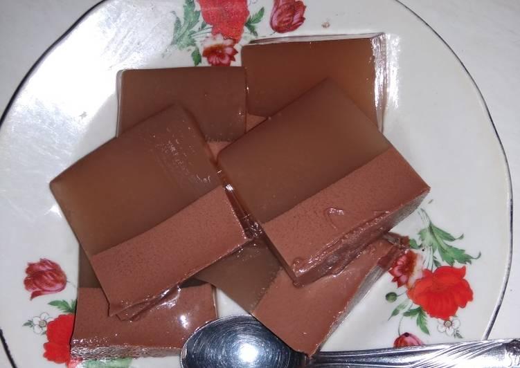 Resep Puding coklat santan susu oleh SusiloWatii - Cookpad