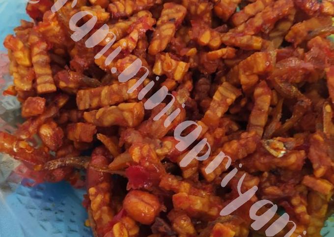 Tempe orek sambal teri kacang