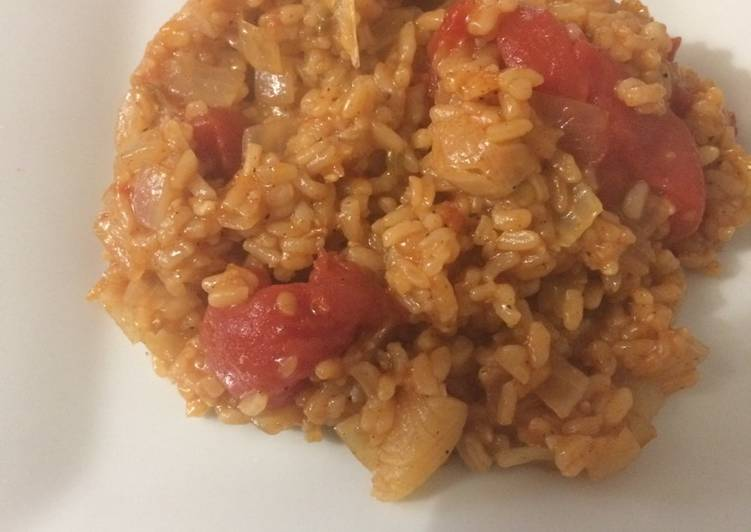 Spanish Rice Easy&Quick w/ Tomato can