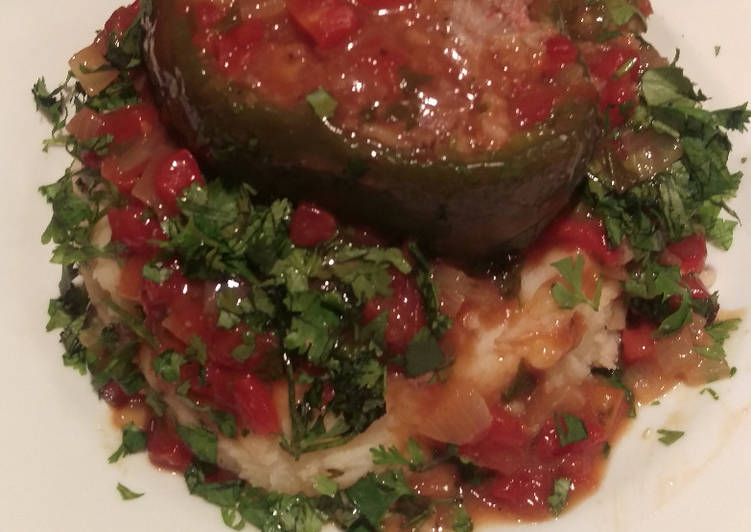 Stuffed Bell Peppers w/ Sauce